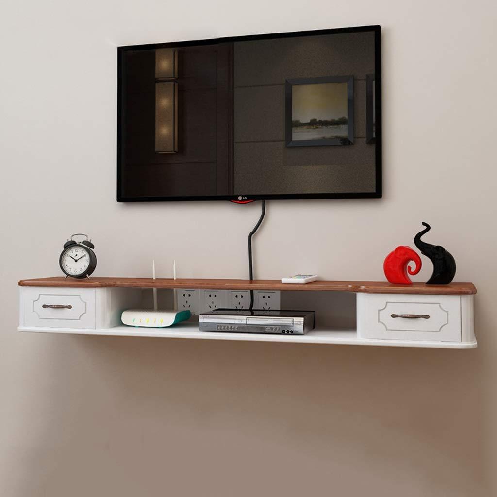 フローティングシェルフウォールシェルフ壁掛けテレビのキャビネットテレビの背景壁の装飾棚テレビコンソール引き出し付きマルチメディア収納棚 B07NY6J6RM
