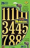 Hy-Ko Products MM-5N Self Adhesive Vinyl Numbers 3' High, Black & Gold, 26 Pieces
