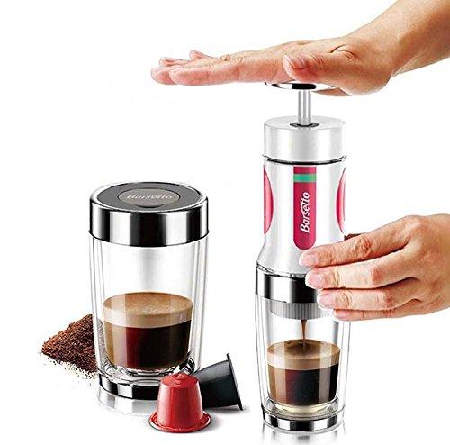 Travel Coffee Maker, Barsetto Portable Espresso Maker Travel Coffee Machine for Hiking, Camping, Picnic, Fishing, from Italy Brand