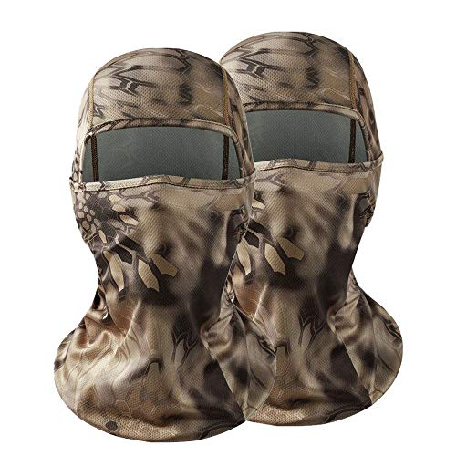 GANWAY Pack of 2 Outdoor Accessories Fishing Hunting Masks Thin Camo Ski Mask Camouflage Motorcycle Headgear Sunscreen Hat Balaclava Face Mask