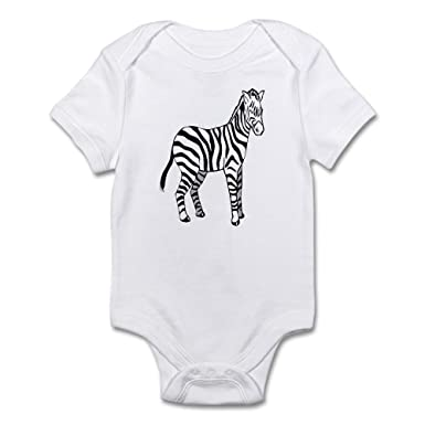 c261cd11b77 CafePress Zebra - Cute Infant Bodysuit Baby Romper  Amazon.co.uk  Clothing