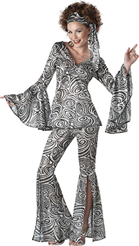 California Costumes Foxy Lady Set, Black/Silver, -