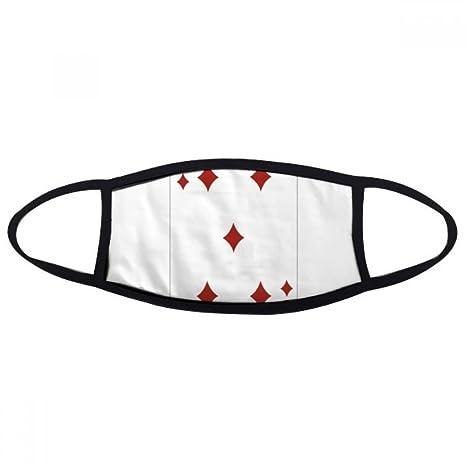 Diamond 5 Juego de cartas patrón boca máscara antipolvo anti ...