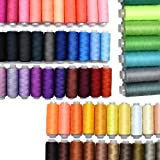 Sewing Thread 60 Colors Sewing Industrial Machine and Hand Stitching Cotton Sewing Thread (60 Color)