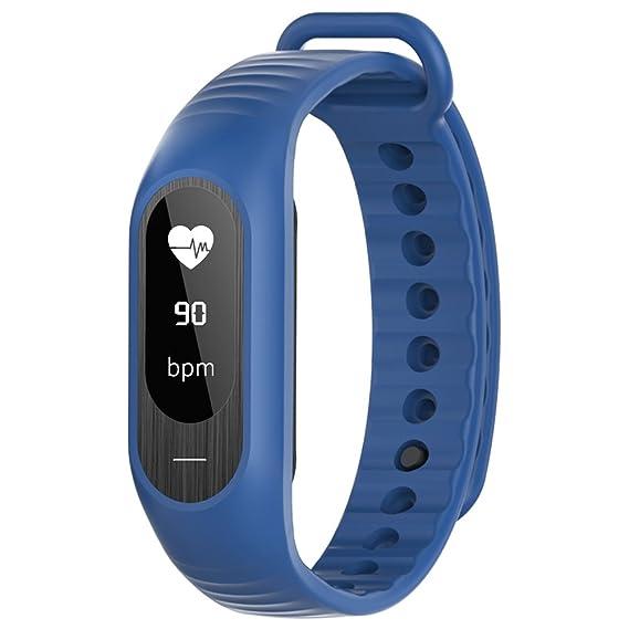 Vigilancia de la Salud Reloj Inteligente Prueba de frecuencia cardíaca para Hombre Reloj Digital Resistente al Agua Reloj de Pulsera Wirst Reloj: Amazon.es: ...
