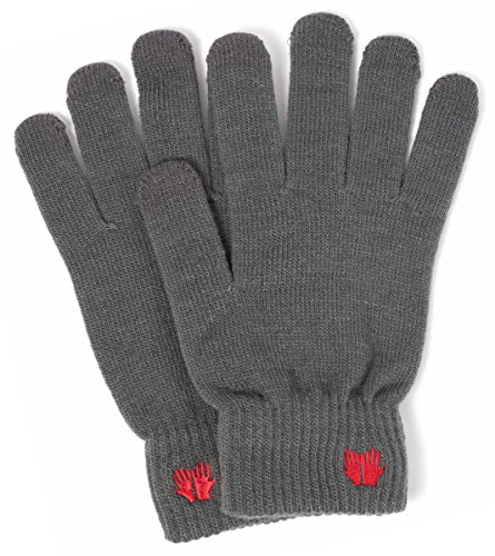Warm Touch Screen Gloves - 6 Vibrant Colors - Works On All Smartphone Devices (Grey) ()