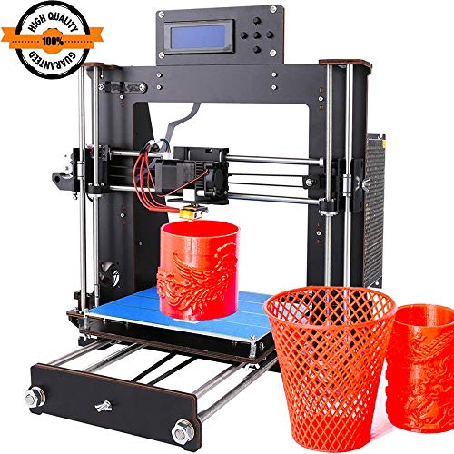 3D Printer, Trovole I3 Prusa DIY LCD Display High Accuracy Desktop 3D Printers Kit Self-Assembly Printer Machine with Free 1.75mm ABS/PLA FilamentBuild Size 200200180mm (I3 3D Printer)