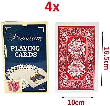 GHMOZ Naipes Extragrandes De Gran Tamaño Carta Grande Póker Grande 2 Veces Cartas De Póker Juegos De Mesa De Mesa (Color : A, Size : 4X): Amazon.es: Hogar