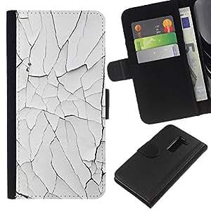 All Phone Most Case / Oferta Especial Cáscara Funda de cuero Monedero Cubierta de proteccion Caso / Wallet Case for LG G2 D800 // Paint Rustic Wall White Broken