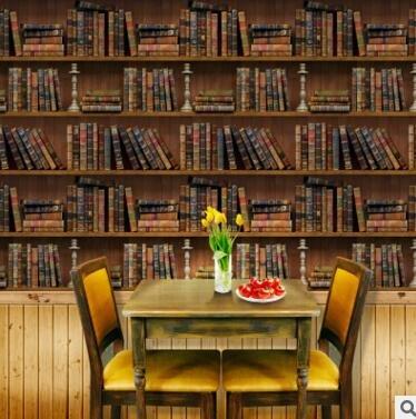 yiyiyaya D DIY Libro Estantería Pegatinas de Pared Wallpaper ...