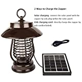 YUSHAN Outdoor Bug Zapper, Solar Mosquito All Flying Biting Insects Electric Killer Garden Light