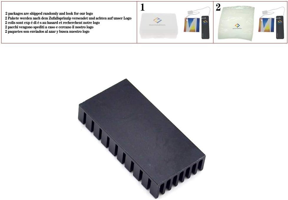 1pcs Heat Sink 502510MM Black Slot Radiator