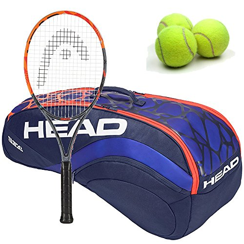 HEAD Graphene XT Radical MP Black/Orange 16x19 Tennis Racquet (4 3/8