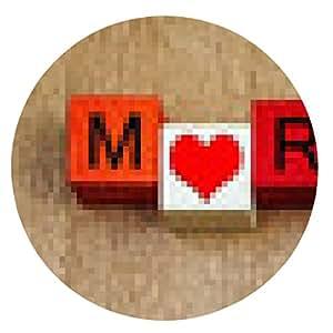 alfombrilla de ratón El amor a Maratón, firme la serie para el deporte, correr y atletismo. - ronda - 20cm
