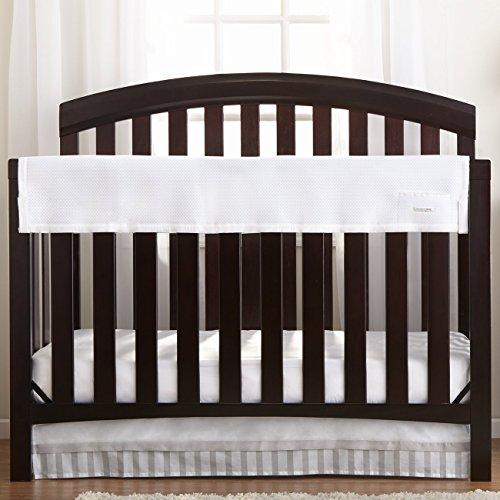 Breathablebaby Railguard Crib Rail Cover White Baby