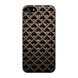 Defender Cases For Iphone 5/5s, Gold Wall Pattern