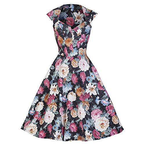 Pretty Kitty Fashion - Robe - Manches Courtes - Femme Noir Noir