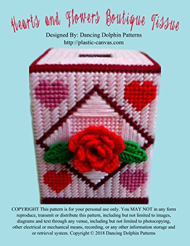 Hearts and Flowers Boutique Tissue: Plastic Canvas Pattern Heart Plastic Canvas Pattern
