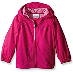 Columbia Toddler Girls Switchback Rain Jacket, Haute Pink, 4T