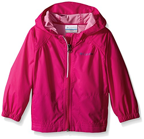 Columbia Toddler Girls Switchback Rain Jacket, Haute Pink, 4T (Pink Coat)