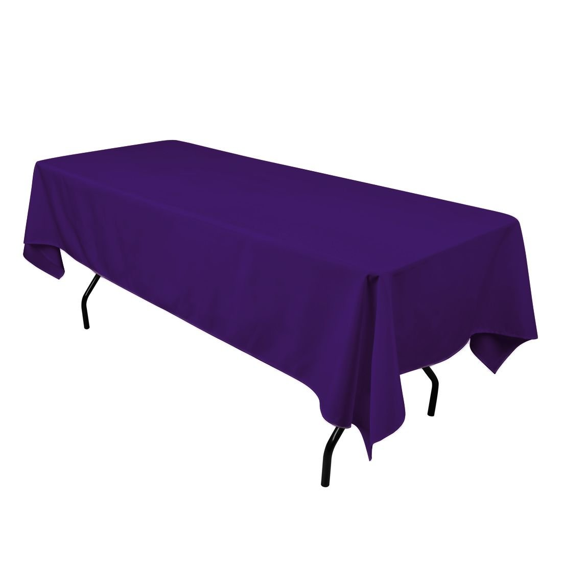 Amazon.com: LinenTablecloth 60 x 102-Inch Rectangular Polyester ...