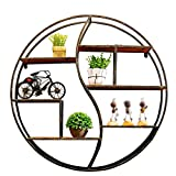 Antique shop wall hanging counter display stand / iron wall racks / industrial wind restaurant wall pendant / tea shop wall setShelf /Wall mounted retro vintage shelves / (80.51080.5cm)