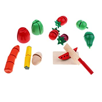 Buy Street27 Kids Wooden Pretend Food Play Set Kitchen Toy Food Fun