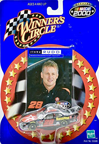Nascar Collector Cards - 2000 - Winner's Circle/NASCAR - Ricky Rudd #28 - Havoline Racing - Ford Taurus - 1:64 Scale Die Cast & Collector Card - Mint