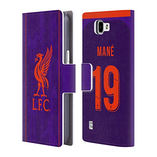 Official Liverpool Football Club Sadio Mané 2018/19 Players Away Kit Group 1 Leather Book Wallet Case Cover For LG K4