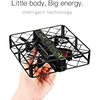 KXN Mini RC Drone Wifi Quadcopter 2.4G 4CH 6 Axis Gyro Headless Mode Remote Control One-key Return RC Toy with HD Camera (Black)