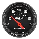 "Auto Meter 2635 Z-Series 2-1/16"" Short Sweep Electric Water Temperature Gauge"