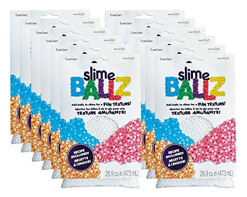 FloraCraft Slime Ballz - 5mm EPS Foam Balls - 2 cups - 12 (Walmart Styrofoam Balls)