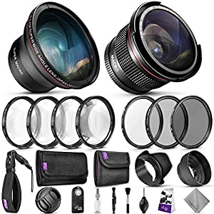 Best Epic Trends 51JUUpwQ0CL._SS300_ 58mm Altura Photo Professional Accessory Kit for Canon EOS Rebel DSLR – Bundle with Wide Angle & Fisheye Lens, Filter…