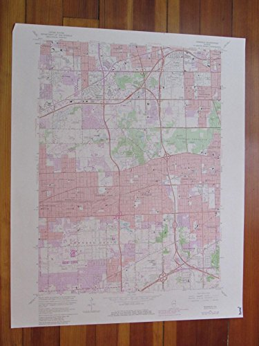 Hinsdale Illinois 1981 Original Vintage USGS Topo - Center Brook Map Oak