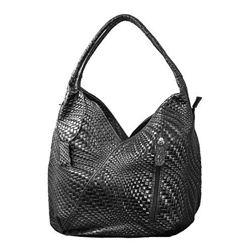 Black 2 Model VEDETTA COSIMA Bag LEONE Handles with Braided xnqZfO