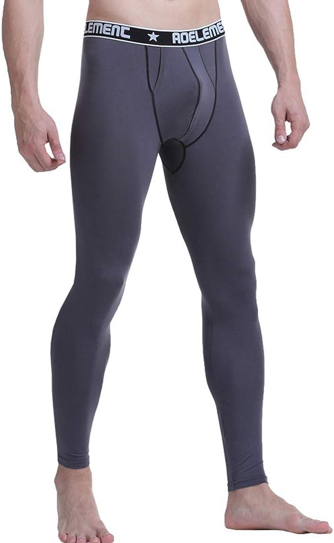Men/'s Smooth Low Rise Long Johns Leggings Underwear Base Layer Bottoms Pants