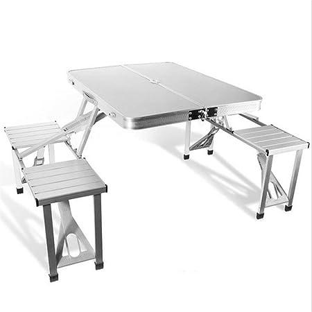 RUIMA Mesa de Picnic Plegable de Aluminio para Exteriores con Mesa ...