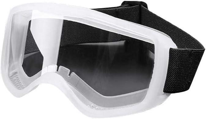 Cokeymove Gafas Protectoras de Seguridad, Gafas de protección antiproyección, antivaho, Antipolvo, para Montar, Gafas industriales Parabrisas Completamente Cerradas para Uso Profesional Personal