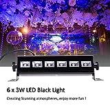 UV LED Black Light 3Wx6 LED Bar Lighting for