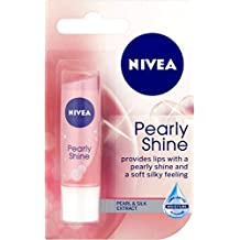 Nivea Lip Balm Care Pearly Shine 4.8g | Pearl & Shine Silk Extract x 3 Packs by Nivea