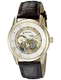 Bulova Men's 97A121 22mm Leather Alligator Brown Watch Strap