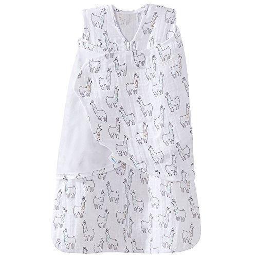 Halo 100% Cotton Muslin Sleepsack Swaddle Wearable Blanket, Llama Print, - Swaddle Soothing