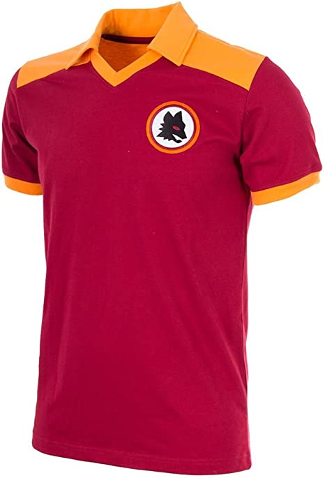 AS Roma 1980 Camisa de Fútbol Retro (S): Amazon.es: Deportes y ...