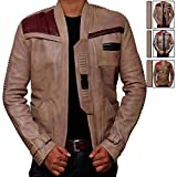BlingSoul Star Wars Poe Dameron Jacket - Finn Costume Jacket (L, Antique Beige) [RL-Finn-Be-L]