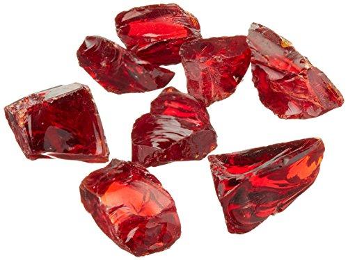 Mosaic Fire Pit Glass - Dragon Glass 10 lb. Medium Red Landscape Glass 1/2