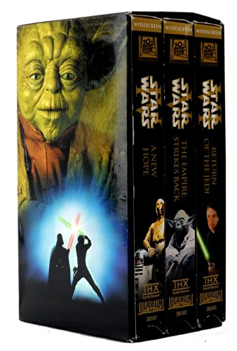 Star Wars Trilogy 1997 Edition (VHS Wide Screen Edition) Episode 4 A New Hope, Episode 5 The Empire Strikes Back, Episode 6 Return of the Jedi (Star Wars The Empire Strikes Back Vhs)