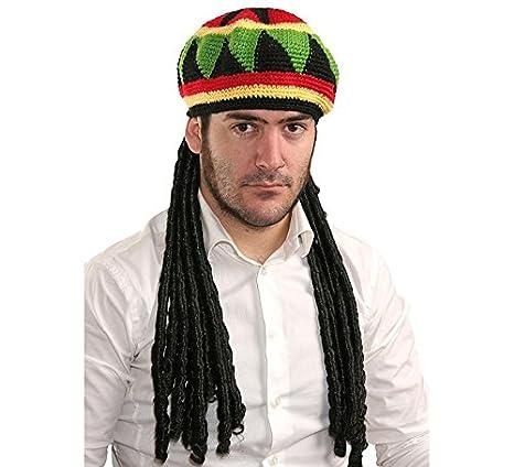 34ef05a3f62cd Gorro Jamaicano con rastas  Amazon.es  Juguetes y juegos