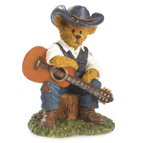 Boyds Bears Country Music - Cash - I'm Just A Country Boy (Bear Teddy Resin)