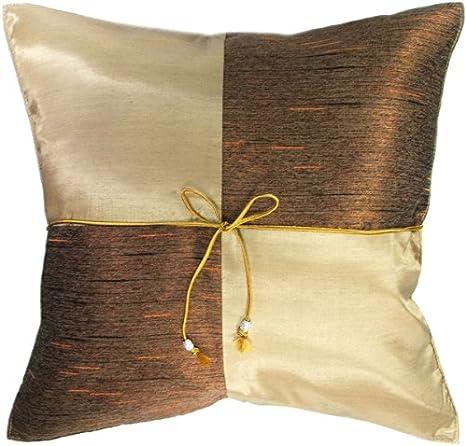 Amazon Com Artiwa Vegas Gold Checker 16 X16 Silk Couch Bed Decorative Pillowcase Gift Recommend Home Kitchen