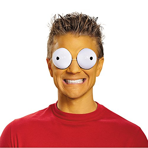 Disguise Men's Simpson Family Eye Goggles Costume Accessory, White, One Size